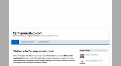 carmanualshub.com - cars workshop repair manuals, wiring diagrams, fault codes free download