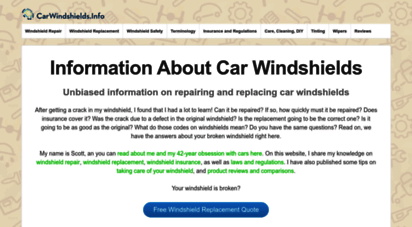 carwindshields.info - car windshields repair and replacement: unbiased info
