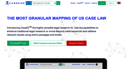 casemine.com - the most granular mapping of us case law  casemine