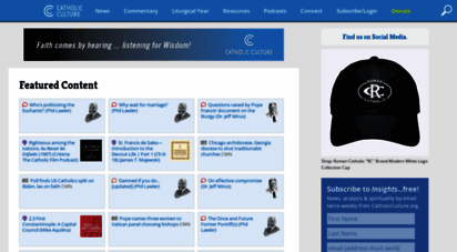 catholicculture.org - catholic news, commentary, information, resources, and the liturgical year  catholic culture