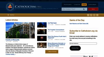 catholicism.org - home - catholicism.org