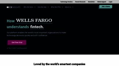 cbinsights.com - cb insights technology insights platform  venture capital database & market intelligence tool
