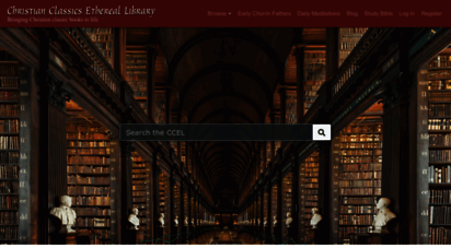 ccel.org - home - istian classics ethereal library