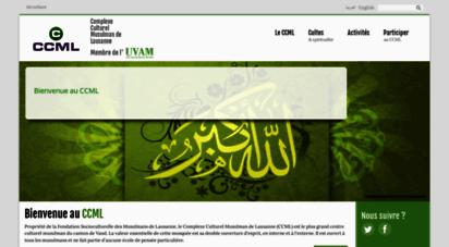 ccmgl.ch - complexe culturel musulman de lausanne ccml