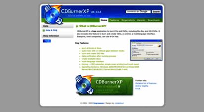 cdburnerxp.se - cdburnerxp: free cd and dvd burning software