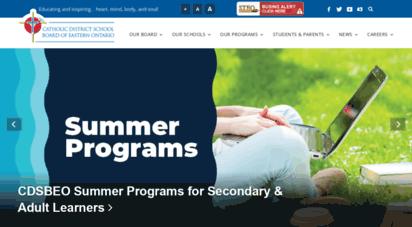 cdsbeo.on.ca - catholic district school board of eastern ontario  catholic district school board of eastern ontario
