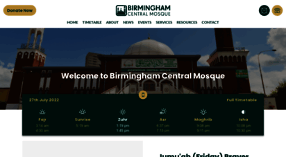 centralmosque.org.uk - birmingham central mosque - home page