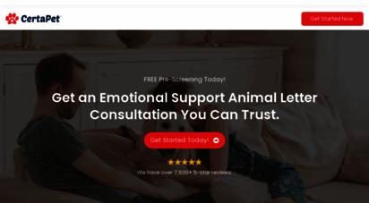 certapet.com - get your emotional support animal letter  certapet