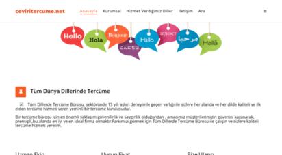 ceviritercume.net - tercüme bürosu  çeviri ofisi  tercüme ofisi  tercüme hizmetleri
