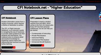 cfinotebook.net - cfi notebook: higher education