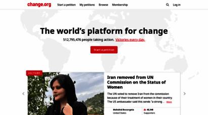similar web sites like change.org