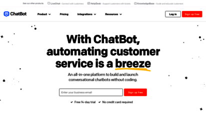 chatbot.com - chatbot  customer service ai chatbots for your website