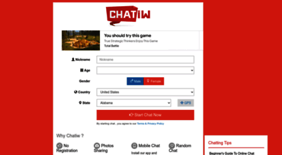 chatiw.me - 1 chatiw - free chat rooms online with no registration , online chat