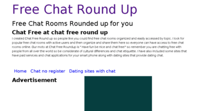 Free chat sites no registration