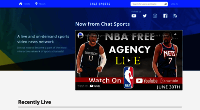 chatsports.com - live and on-demand sports news video
