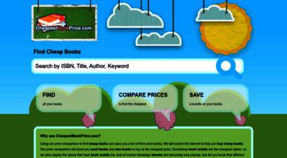 cheapestbookprice.com - buy cheap books - used books, new books, book rentals, ebooks