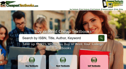 cheapesttextbooks.com - cheap textbooks - price compare college textbooks - used, new, rental & etextbooks