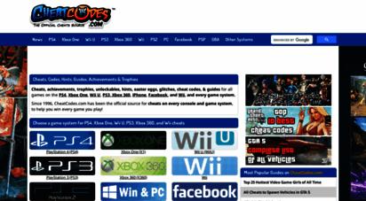 cheatcodes.com - cheats, codes, hints, guides, achievements & trophies - cheatcodes.com