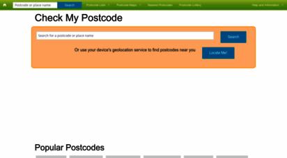 checkmypostcode.uk - check my postcode