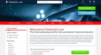 chemicals1.com - chemicals1.com - b2b portal for the chemical industry