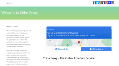 china-proxy.org - use china proxy server to access websites blocked by proxy or firewall.