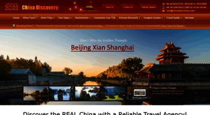 chinadiscovery.com - china travel agency, china tour packages 2018  china discovery