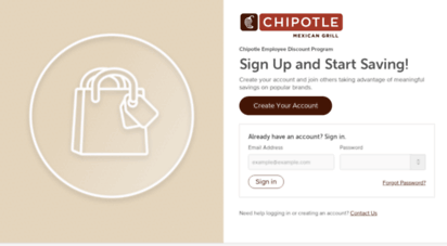 Welcome to Chipotle perkspot com - Login   Chipotle Employee