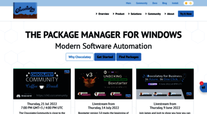 chocolatey.org - chocolatey - the package manager for windows