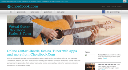 chordbook.com - learn guitar chords, scales and tuning with chordbook