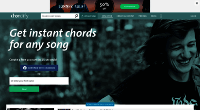 chordify.net - instant chords for any song - chordify