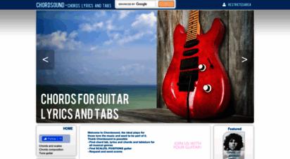 chordsound.com - chordsound - chord tab, lyrics and guitarpro tab