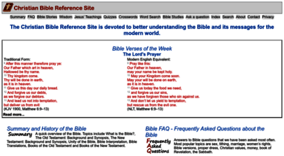 christianbiblereference.org - christian bible reference site