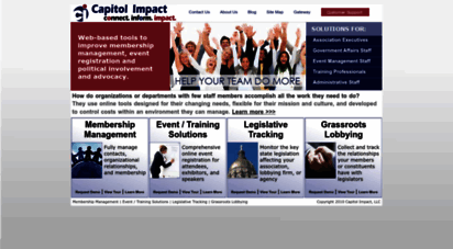 ciclt.net - capitol impact online tools and software for membership management, event and training solutions, legislative tracking, and grassroots lobbying