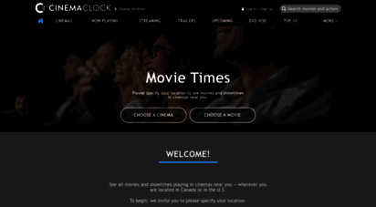 cinemaclock.com - cinema clock - movie times in cinemas