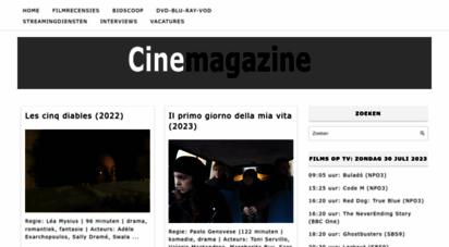 cinemagazine.nl - cinemagazine • filmrecensies, interviews en filmprijsvragen