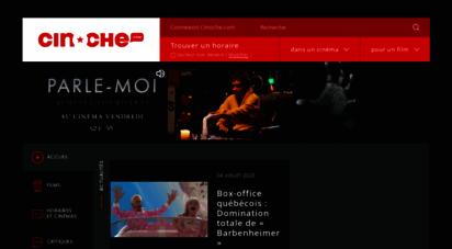 cinoche.com - cinoche.com - la référence cinéma au québec  horaire cinéma, films, bandes-annonces, images, extraits, critiques, actualités, sorties dvd et concours