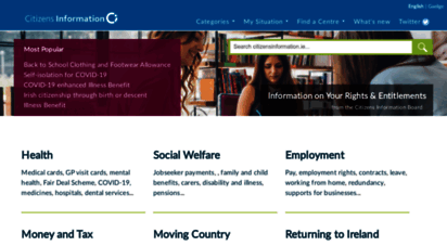 citizensinformation.ie - citizens information