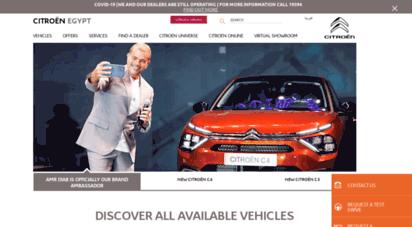 citroen-eg.com - citroën egypt  car dealership  suv, mpv, sedan