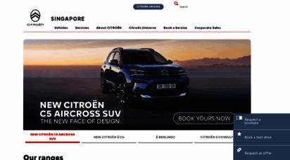 citroen.com.sg - citroën singapore : passenger cars and commercial vehicles