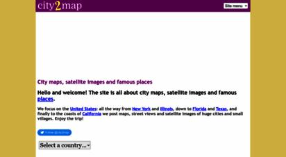 city2map.com - city maps, satellite images and famous places