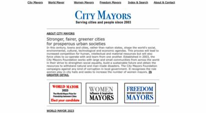 citymayors.com - city mayors: mayors running the world´s cities