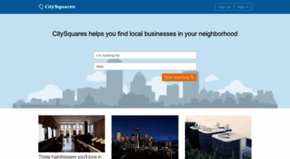 citysquares.com - local city guide  citysquares