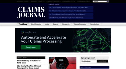 claimsjournal.com - claims journal - insurance news and resources for the claims industry