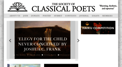 classicalpoets.org - society of classical poets