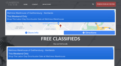classifiedsfactor.com - free classified ads - classifieds factor - covering 400,000 cities
