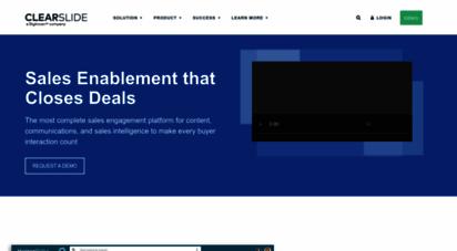 clearslide.com - clearslide - the sales engagement platform leader