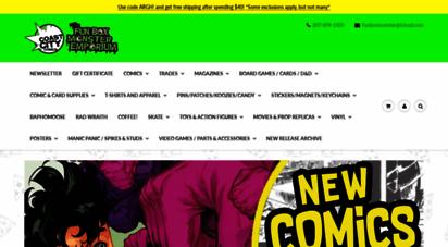 coastcitycomics.com - coast city comics & the fun box monster emporium comics shirts awesome