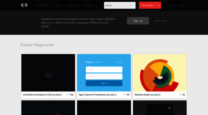 Welcome to Codepad co - Codepad - Share Code Snippets, HTML5, CSS3