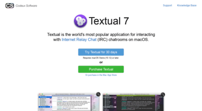 codeux.com - textual irc client