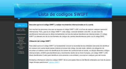 codigosswift.com - codigos swift bancarios - lista de codigos swift